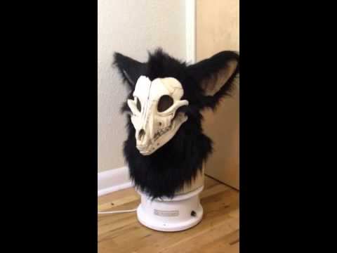 Black Skulldog Head