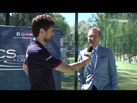 ICS a sostegno del padel - Paolo D'alessio ai microfoni di Super Tennis