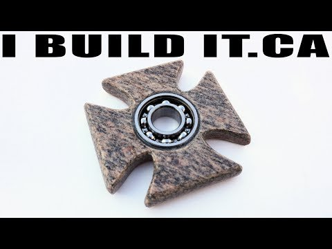 """Iron Cross"" Fidget Spinner  - Cut From A Hunk Of Granite"