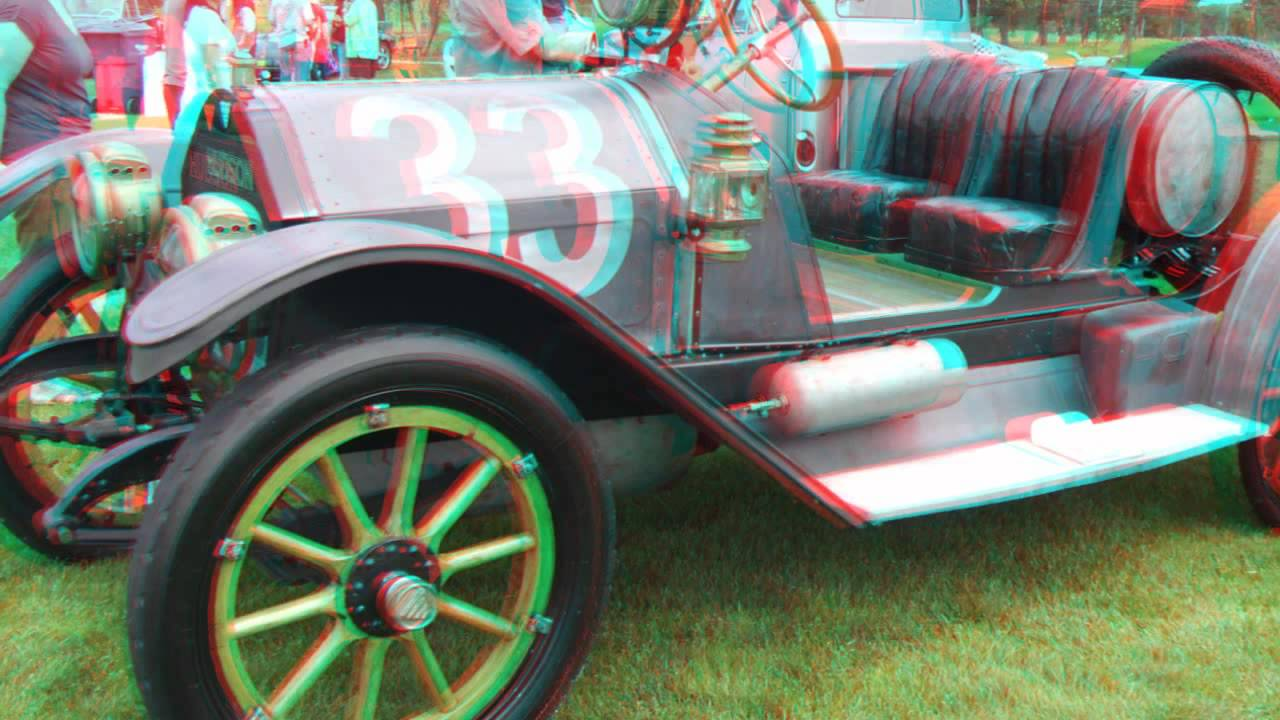 3D ANAGLYPH in HIGH DEFINITION Exotic and Classic CAR SHOW Red Cyan ...
