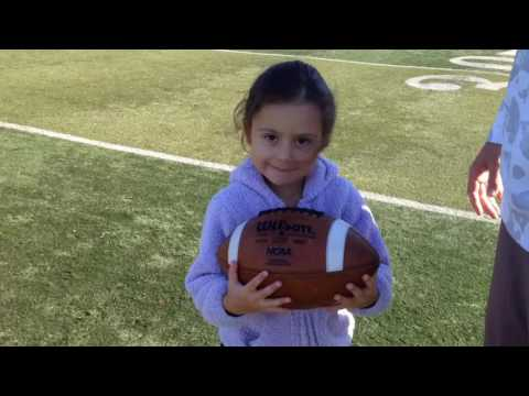 3-year old daughter shows football talent!