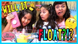 So Chatty - Will It Float Challenge : SO CHATTY LIVE // GEM Sisters