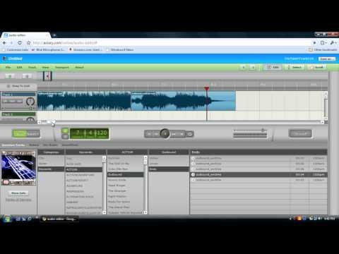aviary online audio editor- Tutorial and Deno