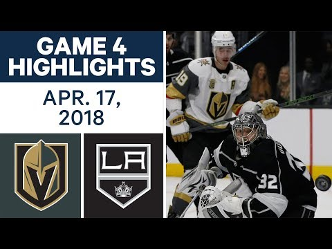 NHL Highlights | Golden Knights vs. Kings, Game 4 - Apr. 17, 2018