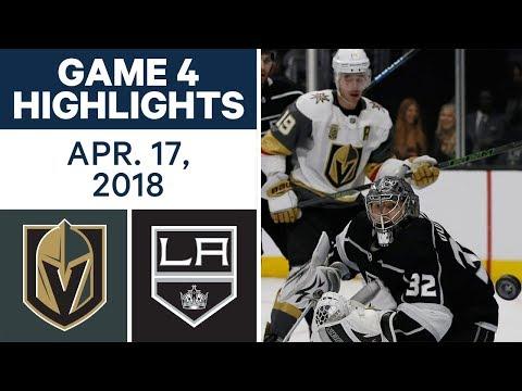 NHL Highlights | Golden Knights vs. Kings, Game 4 - Apr. 17, 2018