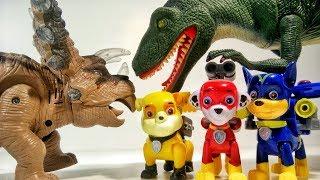 ЩЕНЯЧИЙ ПАТРУЛЬ Мультфильм Динозавры Ромео Мультики для детей Герои в масках Игрушки Paw Patrol