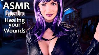 ASMR Amy Cyber Doctor Healing your Wounds - lovely Treatment - Trigger to Relax   German Whispering