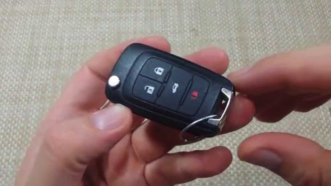 How to change Keyless entry key fob remote battery Chevy Camaro Equinox  Cruze CR2032 FCC 13500222
