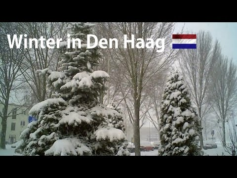 HOLLAND: Heavy snowfall in The Hague 2009