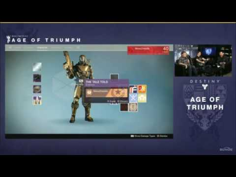 destiny: age of triumph reveal bungie livestream - youtube