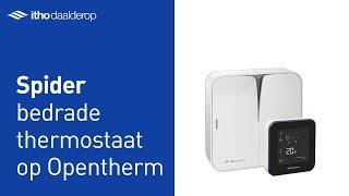Bedrade Spider thermostaat op OpenTherm cv-ketel installeren
