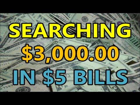 $3,000 BANKNOTE SEARCH In $5 BILLS Hunting For Error Notes, Fancy Notes, Star Notes And MORE!