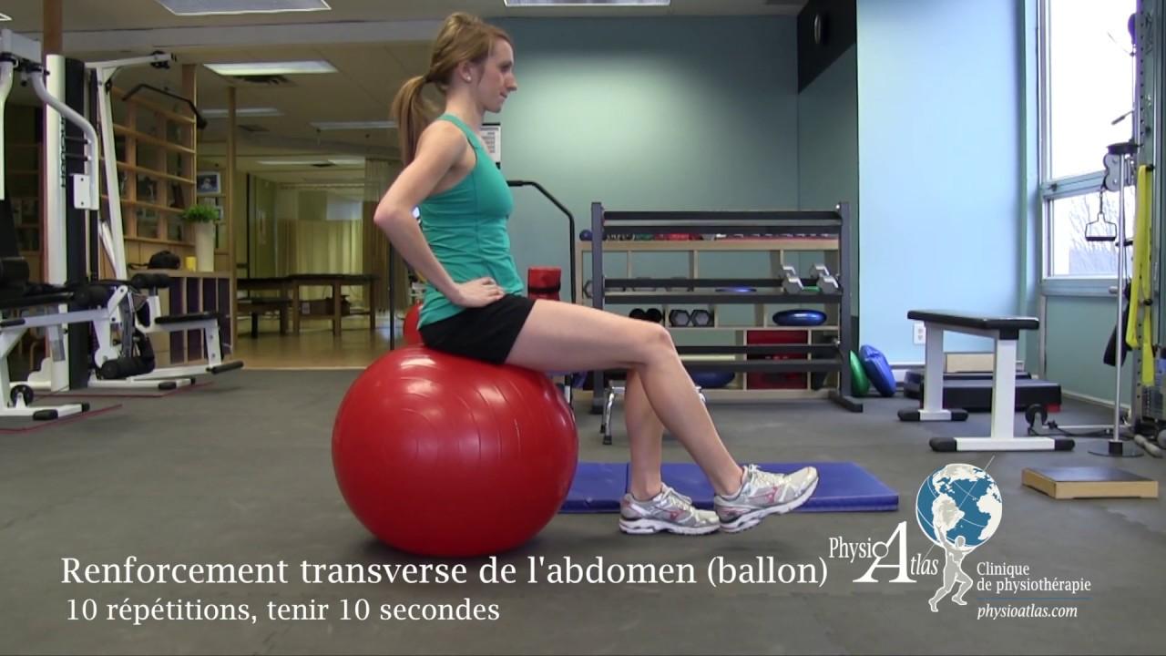 Exercice de réadaptation: Lombaire / tronc / dos ...
