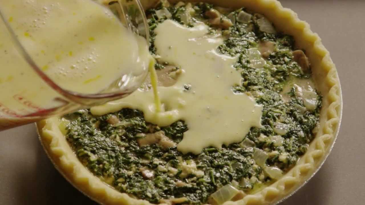 how to make spinach quiche youtube