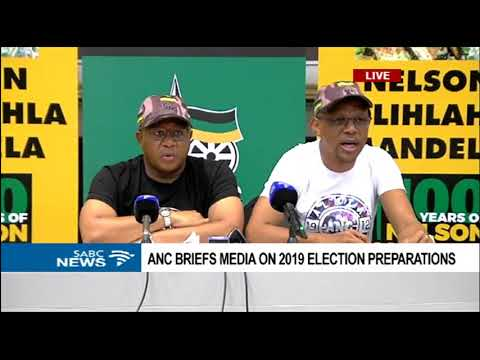 Fikile Mbalula briefs media on 2019 election preparations