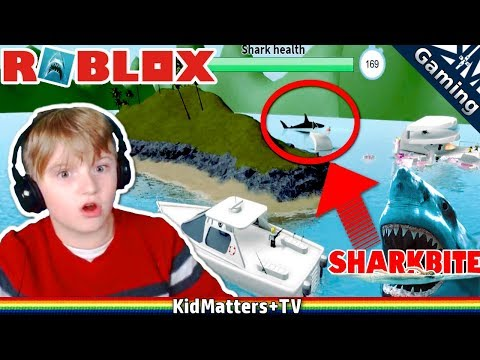 ROBLOX Shark Bite! Let's Play. EATEN BY & I'M A SHARK!! | Roblox SharkBite (Beta) [KM+Gaming S02E12]