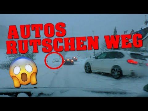 SCHNEE-CHAOS   BABY WEINT   AUTOS IM STRASSENGRABEN
