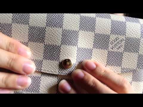 Louis Vuitton requested wear & tear emilie wallet damier azur review comparison sarah epi rose clair