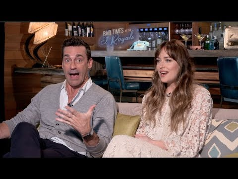 BAD TIMES AT THE EL ROYALE  interviews - Dakota Johnson, Cynthia Erivo, Hamm, Bridges, Goddard