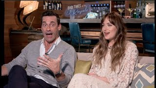 Bad Times At The El Royale  Interviews   Dakota Johnson, Cynthia Erivo, Hamm, Bridges, Goddard