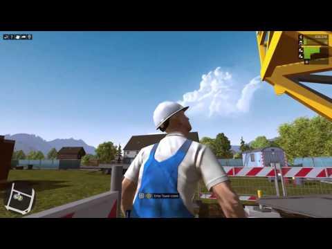 Construction Simulator 2015   Tower Crane Concrete Bucket   Lets Play 15   Electro Gamer