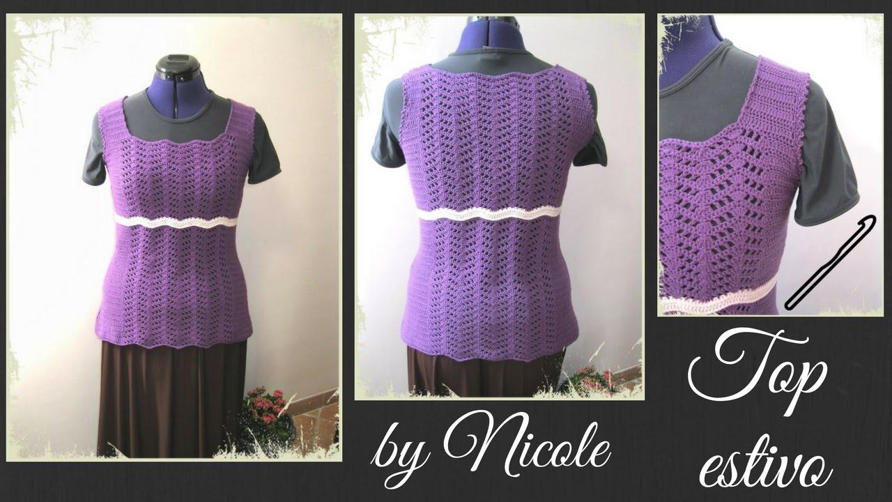 Come Realizzare Una Maglia Alluncinetto Diy Crochet Summer Top