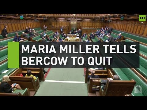 Maria Miller tells Speaker Bercow to quit