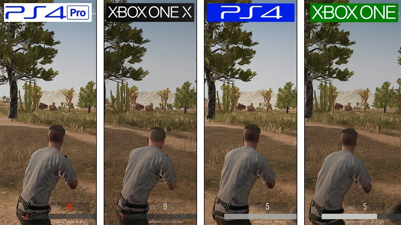 Playerunknown S Battlegrounds Pubg Xbox One X Vs Ps4 Pro Vs
