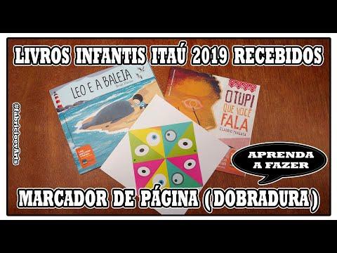 📚 RECEBIDOS Itaú 2019 Marcador de Página  Dobradura  + Coleção de Livros Infantis 📚