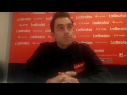 Ronnie O'Sullivan awkward interview after Preston win