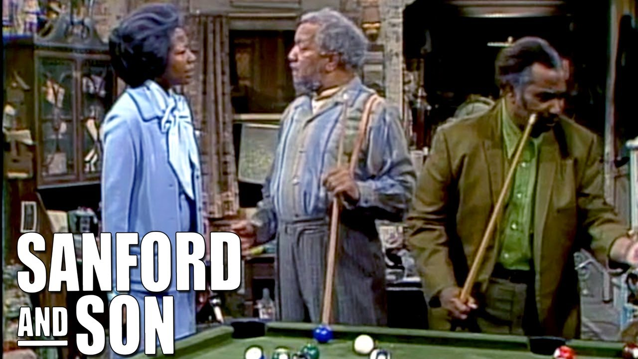 Fred Ignores Donna To Play Pool | Sanford and Son