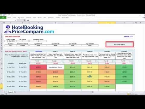How to Bulk Compare Hotel Prices on Booking.com