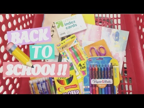 BACK TO SCHOOL shopping at TARGET 🎯School supplies