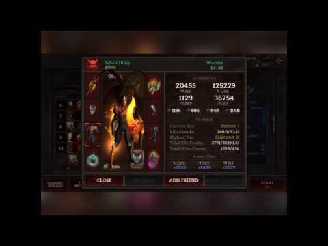 Warrior- Darkness Reborn- Strong Stats & Gear