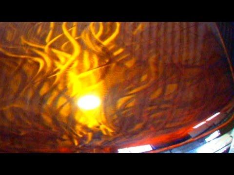 グラインダーでカスタムペイント・キャンディー塗装 How to custom paint grinder tattoo Ground Metal