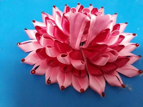 Make Lotus Shape Poshak With Satin Ribbon For Bal Gopal Most Easy