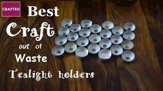 DIY candle holder | दिवाली के खाली कैंडल मोल्ड्स को फेंकने से पहले ये वीडियो जरूर देखे |