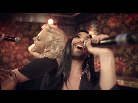 Conchita Wurst at Mardi Gras and her adventure with Courtney Act, Sydney, Australia