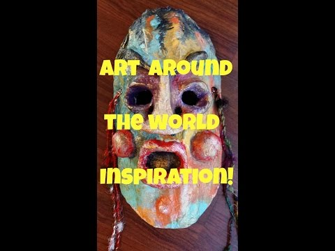 Art Mask Around the world Inspiration...Africa (Craft like a Duck!)