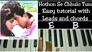 Hothon Se Chhulo Tum | Easy Piano Tutorial Step by Step with Chords | Jagjeet Singh, Raj Babbar |