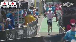 Live look at the pros transitioning into the run at the IRONMAN Wor...