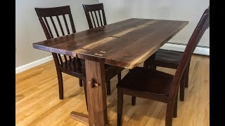 Project #2 - Making a Live Edge Walnut Dining Table