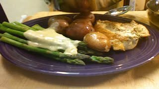 Chicken With Beurre Blanc And Asparagus
