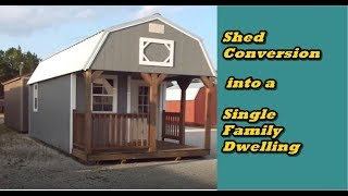 Before You Spend Money On A Shed, Watch This | Shed Conversion | Building Codes
