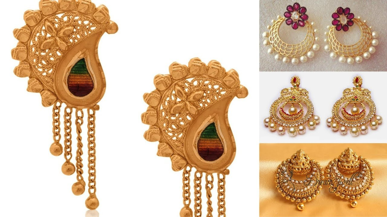Latest 22k Gold Drop Earring | earrings collection | earrings ...