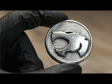 I made a THUNDERCATS coin | Metal Casting with Torch, Spoon, Silicone Mold