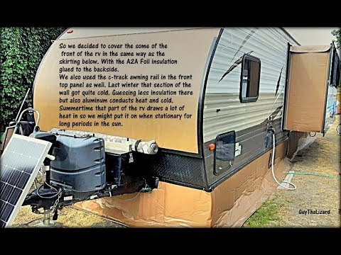 Our RV skirting DIY completed 2017 09 21 - YouTube