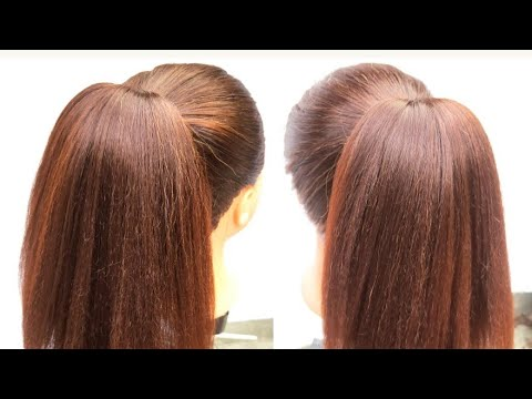 beautiful-ponytail-hairstyle-for-long-and-short-hair-||-high-ponytail-hairstyle-||-ponytail-trick-||
