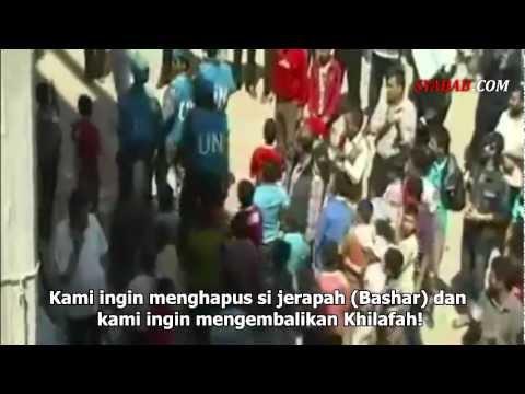 Ribuan Warga Suriah Teriakkah Khilafah dan Kematian bagi Israel di Hadapan Para Delegasi PBB