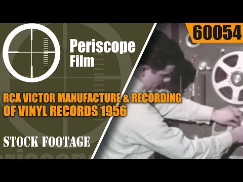 RCA VICTOR MANUFACTURE & RECORDING OF VINYL RECORDS  1956 INDUSTRIAL FILM   60054